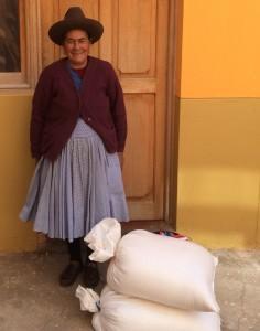 Senora Vilma with Maras Salt