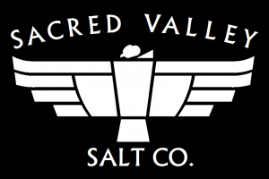 sacred valley salt condor logo black background
