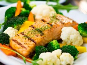healthy food with salt
