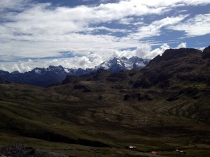 Andean peaks near sacred valley