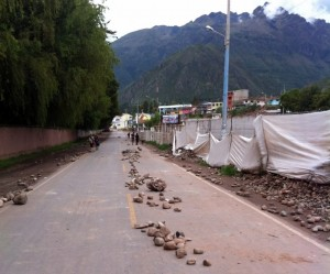 Urubamba Blocked Road