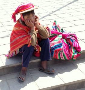 Young man wearing ojotas