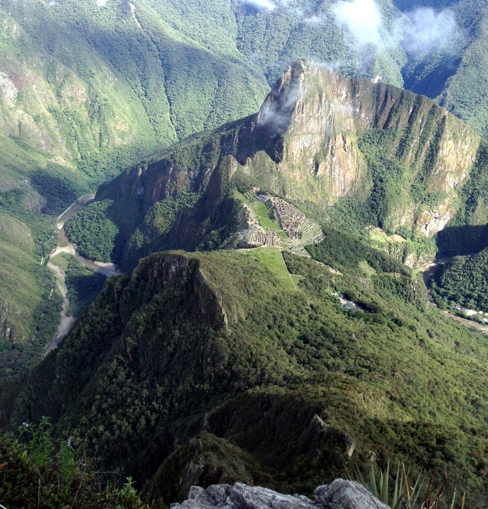 Huyna PIcchu as seen from Machu Picchu