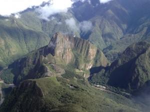 above machu picchu