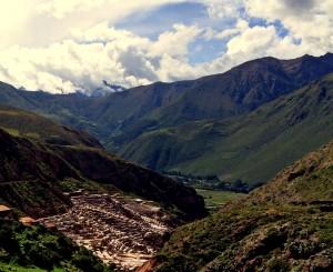 salineras salt near maras above sacred valley