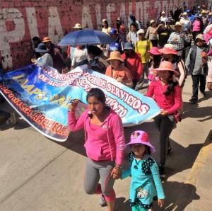 Urubamba Peru Protesters