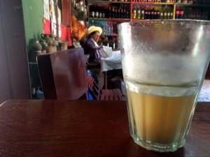 Glass of Peruvian chicha